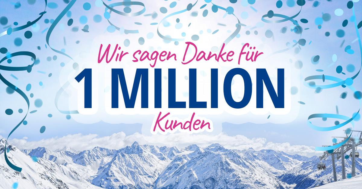SnowTrex-Meilenstein: 1 Million Kunden.